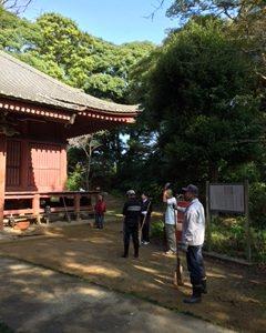 妙楽寺文化財保護ボランティアに参加